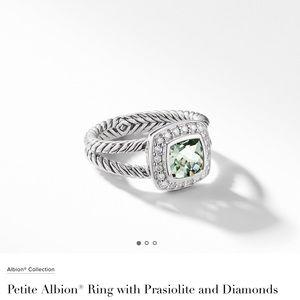 David yurman prasiolite diamond ring Albion